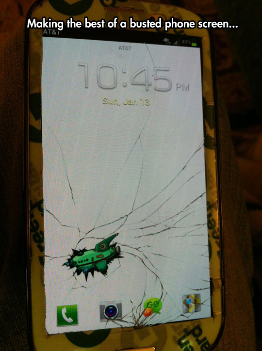 How to make your broken screen look good…