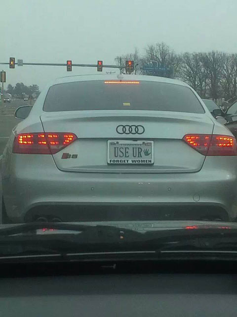 The vanity plate of the year award goes to…