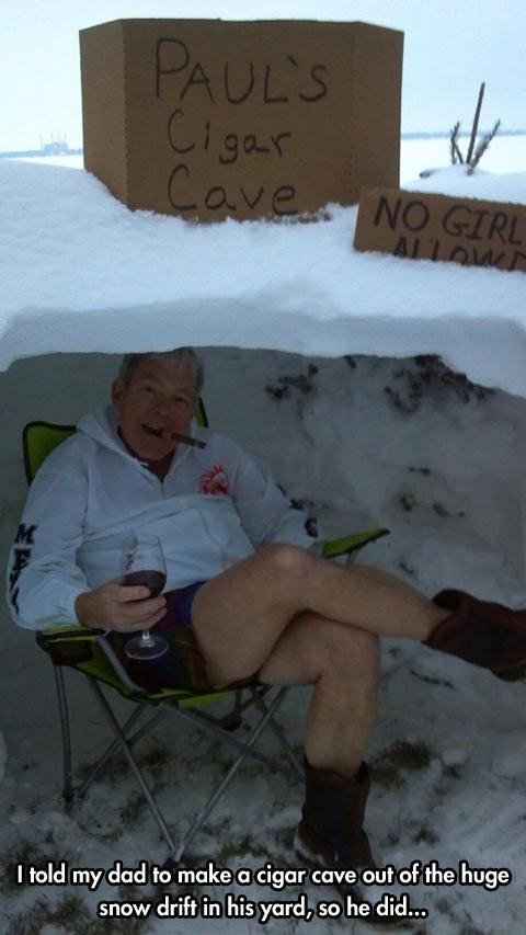 Dad's cigar cave…