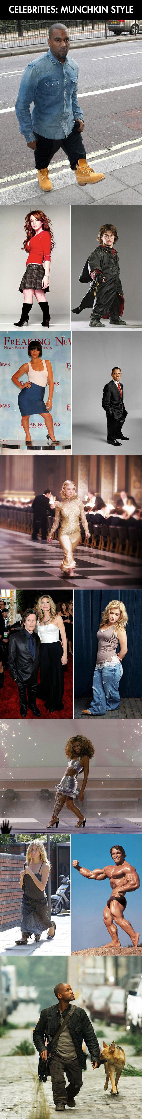 If celebrities were shorter…