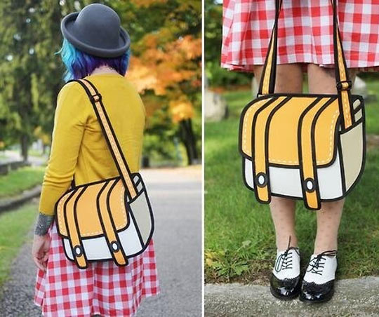 This is a real cartoon bag…