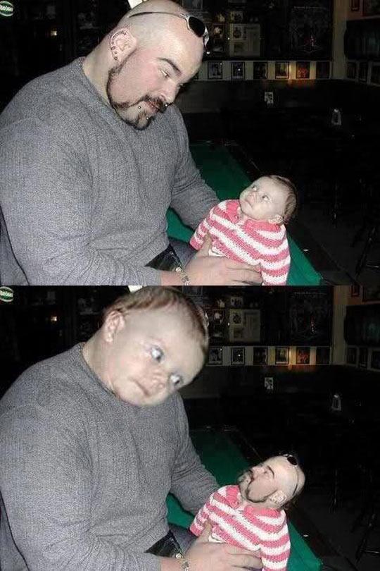 funny-dad-baby-swap-face
