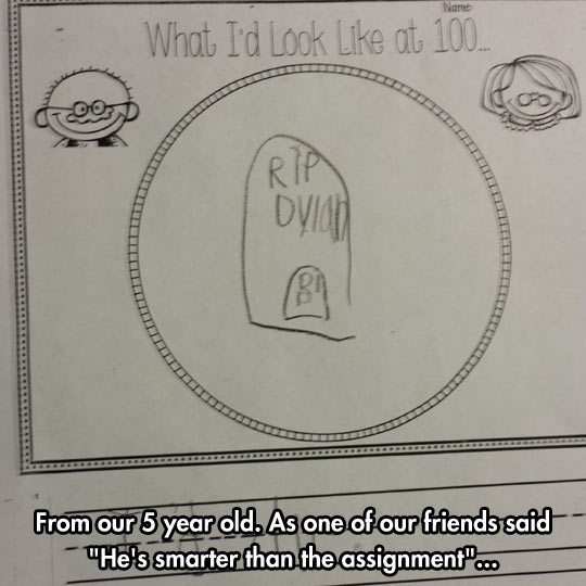 From the mind of a 5-year-old kid…