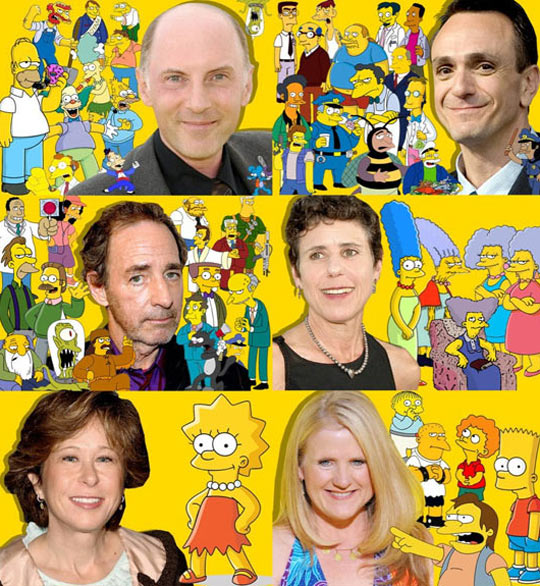 The faces behind The Simpsons…