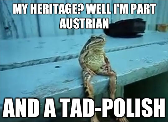 Frog's heritage…