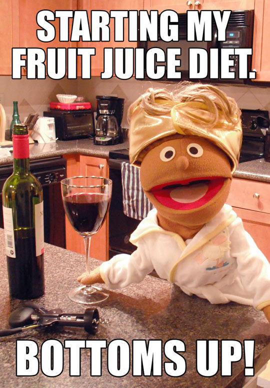 Fruit juice diet…