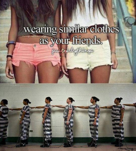 Similar clothes…