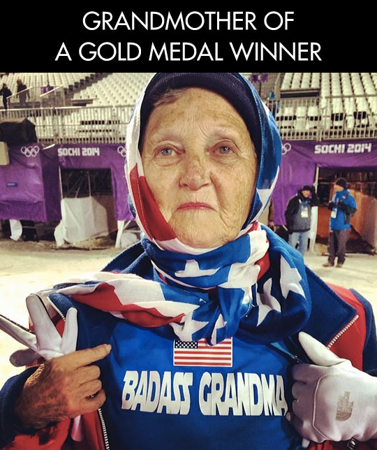 Nothing can match a grandmother's pride…