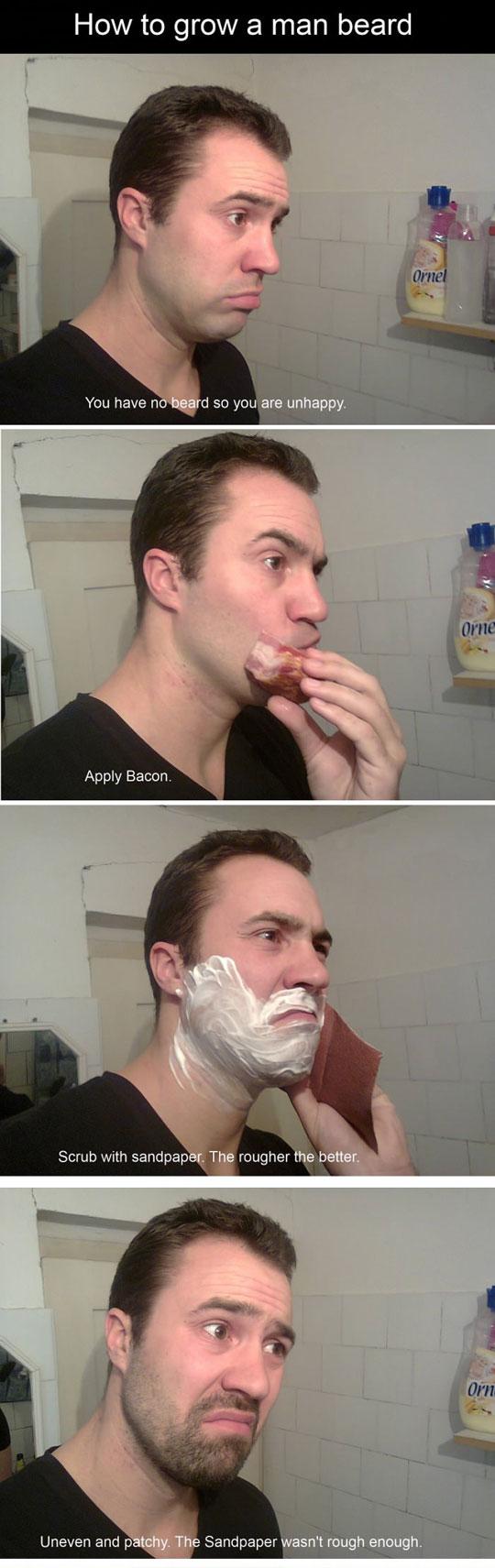 How to grow a man beard...