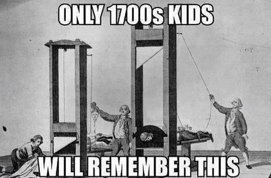 Oh, the good old days…