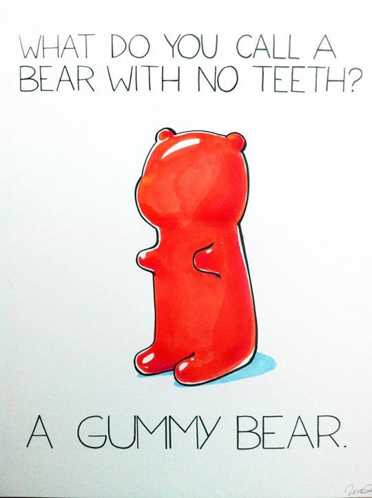 A bear with no teeth…