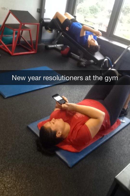 New Years' resolutions being met…