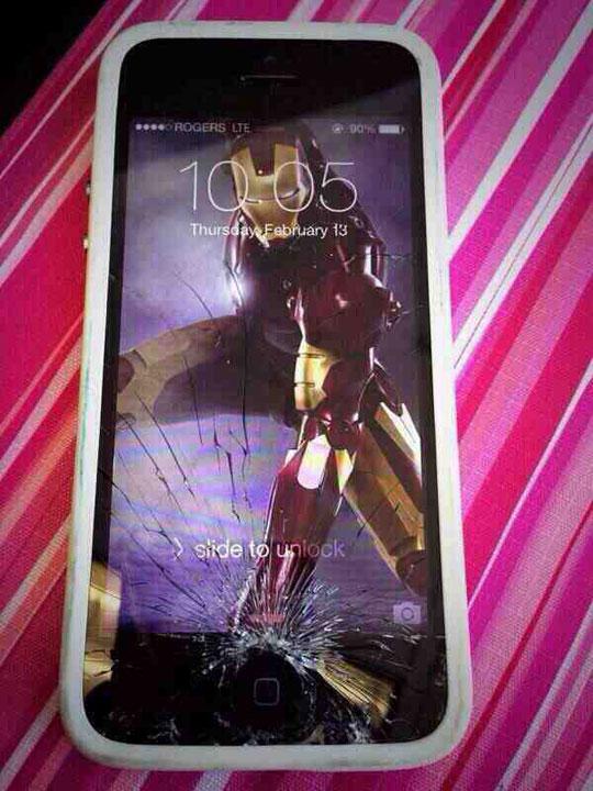 An easy fix for a broken screen…