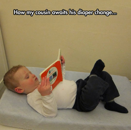Waiting for the diaper change…
