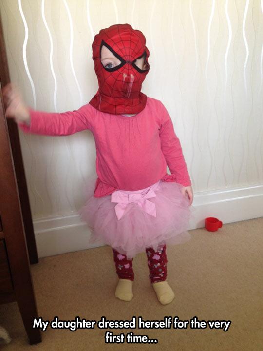 funny-little-girl-Spiderman-mask