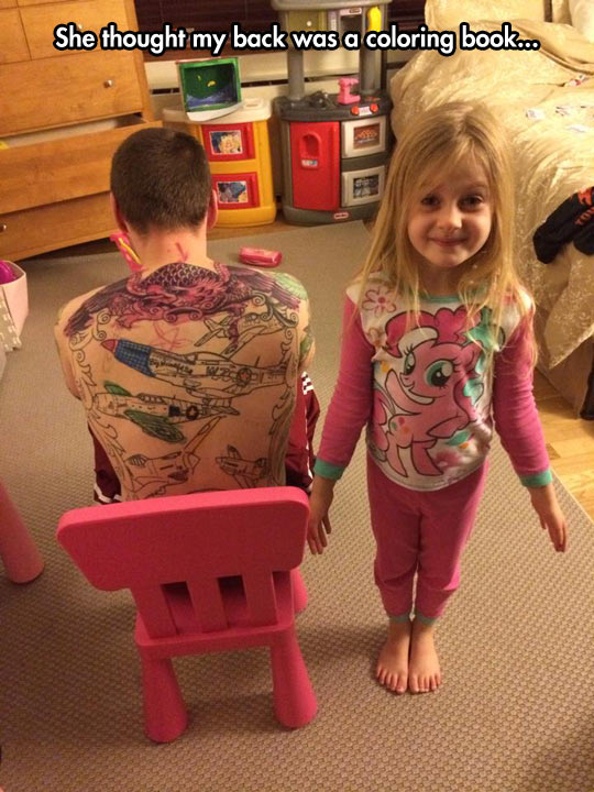 She has artistic talent, you can tell…