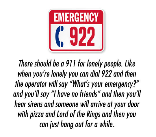 A different kind of emergency…