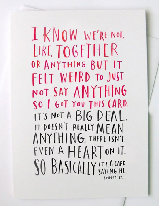Perfect valentine card for relationships nowadays