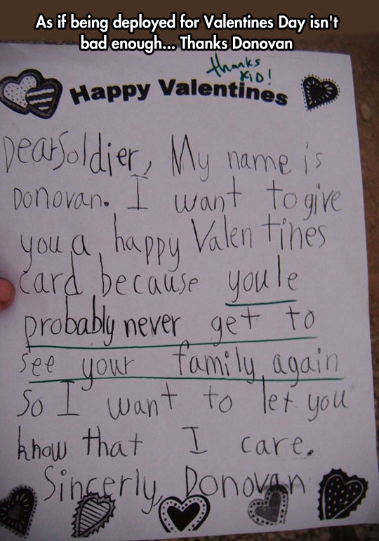 Gee, thanks kid…