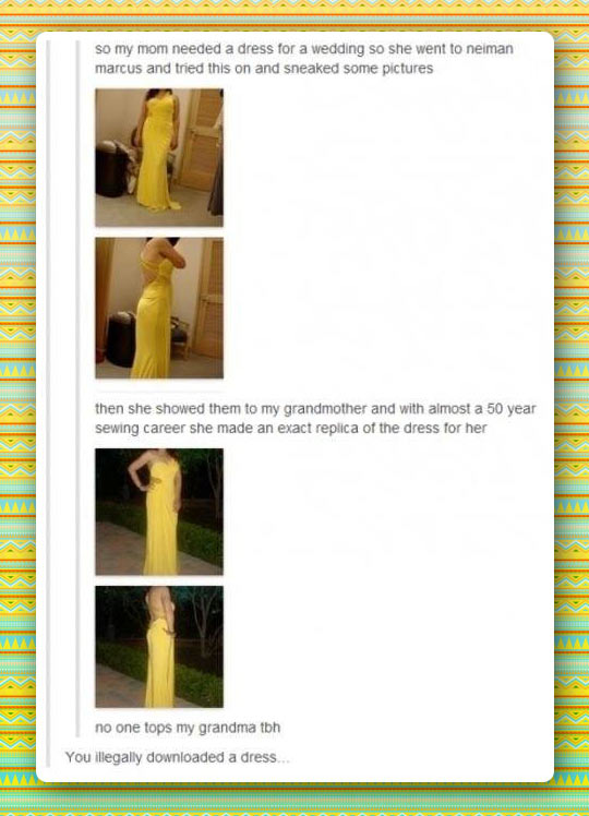 funny-mom-dress-wedding-sewing