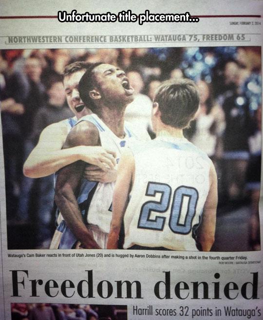 Freedom denied…