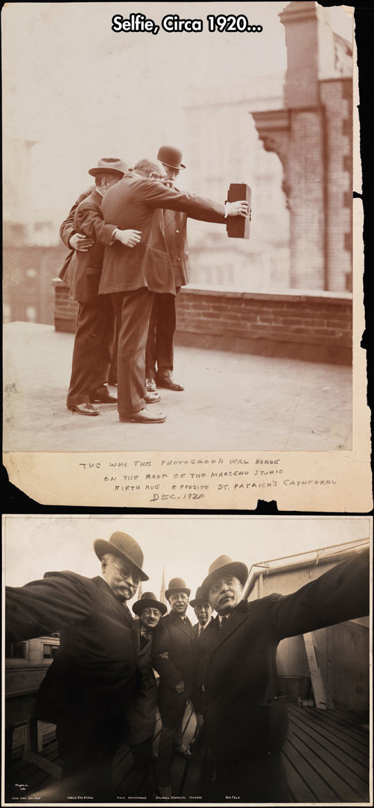 Because a selfie can capture history too…