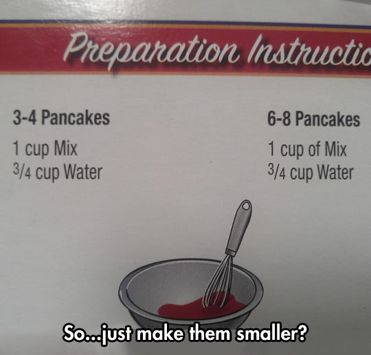Preparation instructions…