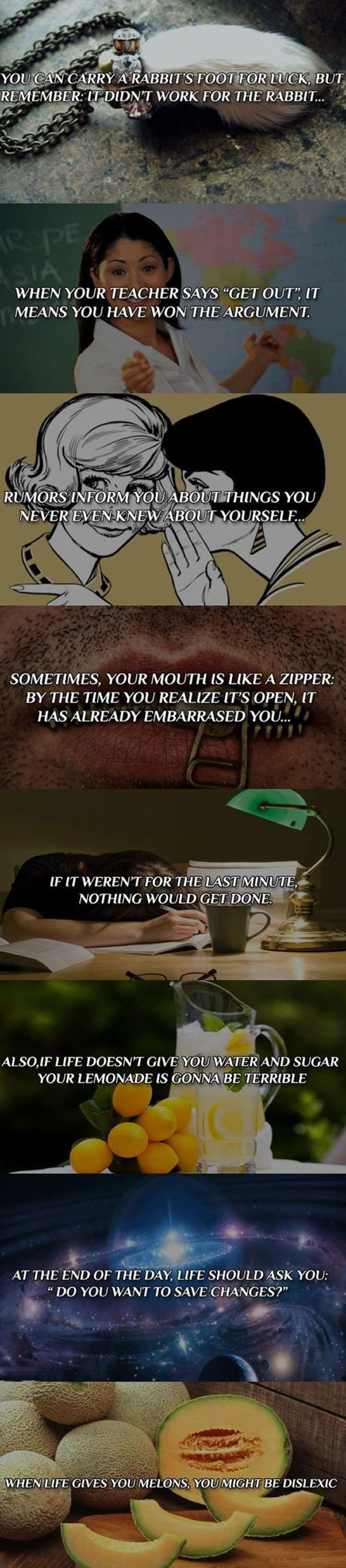 Funny philosophy quotes that make you think...