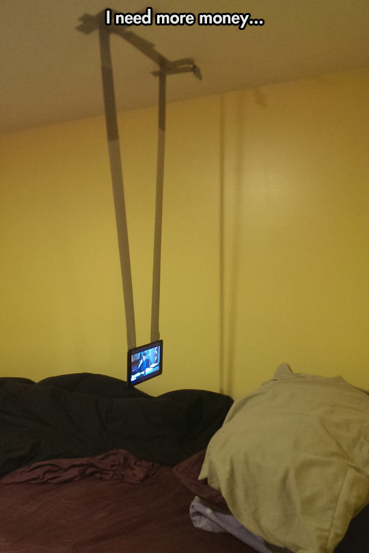 funny-phone-tape-roof-bed