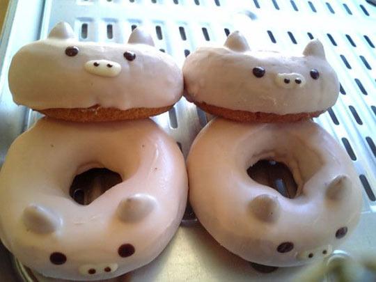 Pig shaped doughnuts…