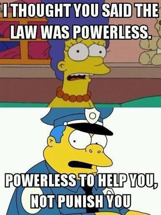 Simpsons explain America's law enforcement…
