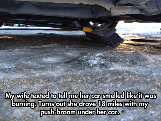 The car, the car, the car is on fire…