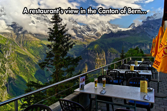 Restaurant with spectacular view…