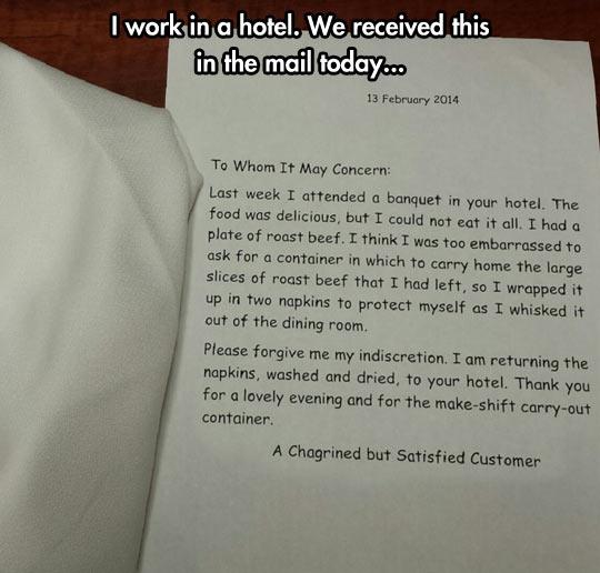 funny-roast-beef-napkins-hotel-customer