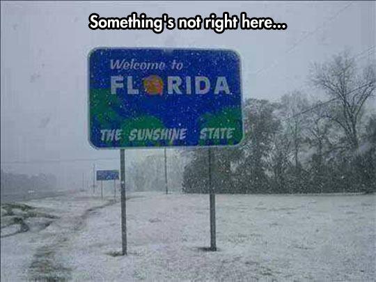 The sunshine state…