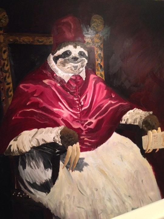 Pope sloth…