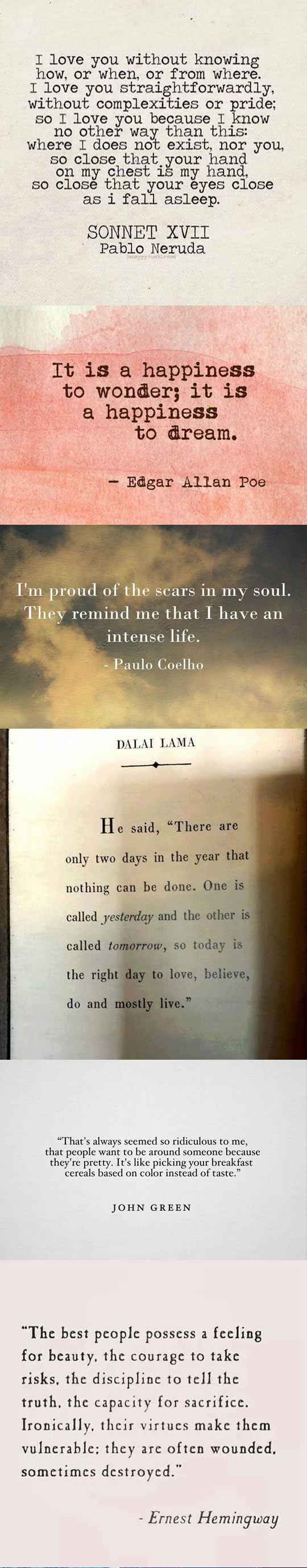 Some beautiful quotes to get through the day...