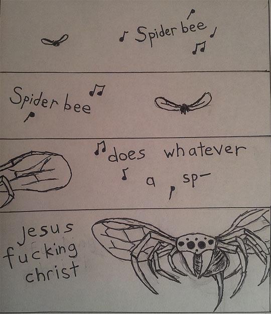 Spider-bee…