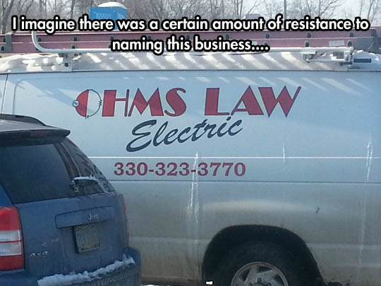 I imagine there was a certain amount of resistance to naming this business…