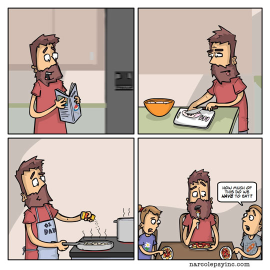 funny-webcomic-dad-cooking-food-children-complaining