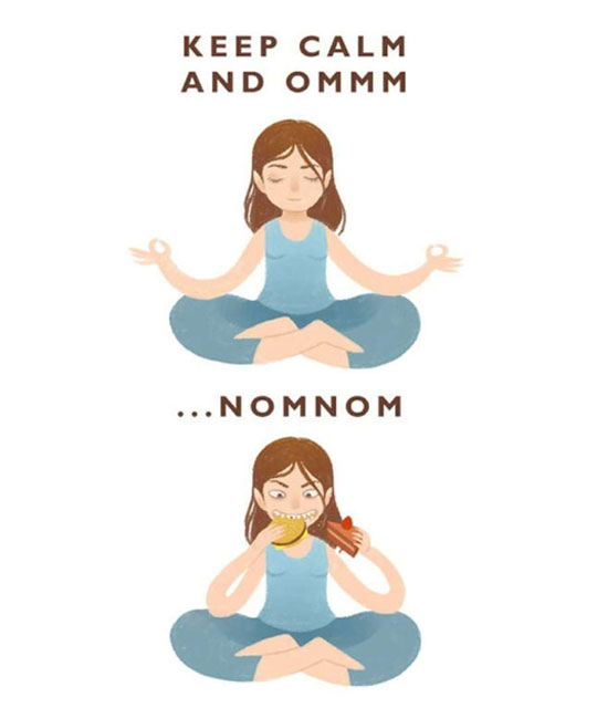 My favourite kind of yoga…