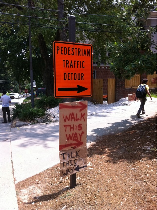 Smartass-responses-traffic-detour