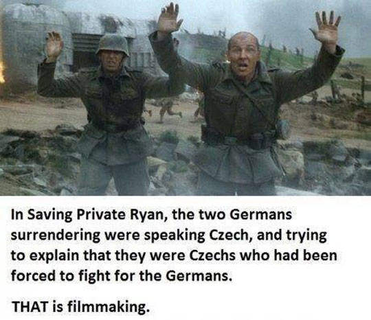 Spielberg paid attention to details