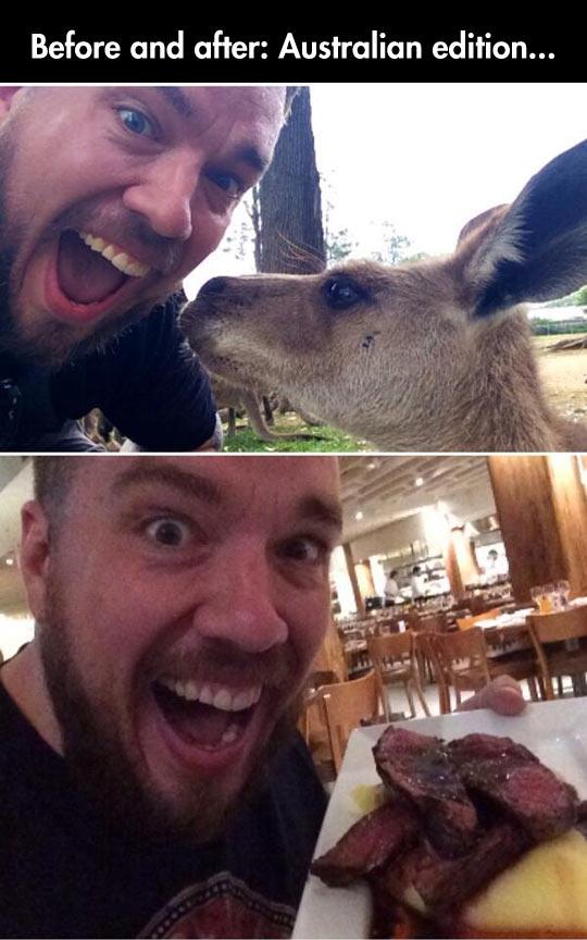 before-after-Australia-kangaroo-restaurant