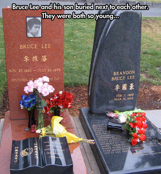 He only got to be with his son for eight years. Sad…