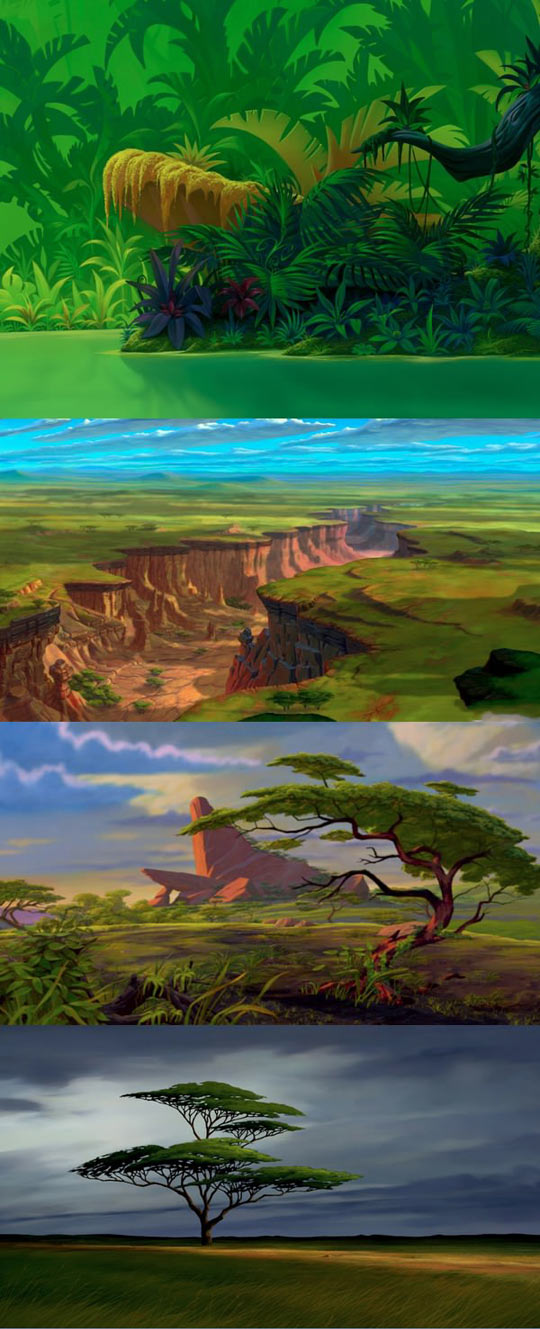 Background Art from The Lion King...
