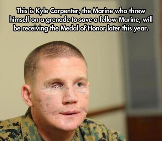 No words can describe his bravery…