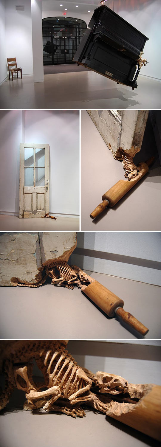 Spectacular sculptural wood carving work by Maskull Laserre...