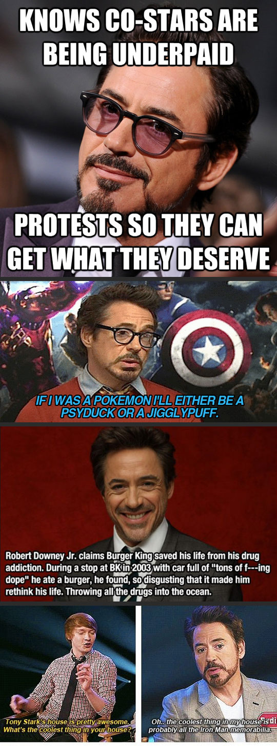 Reasons Robert Downey Jr is awesome...