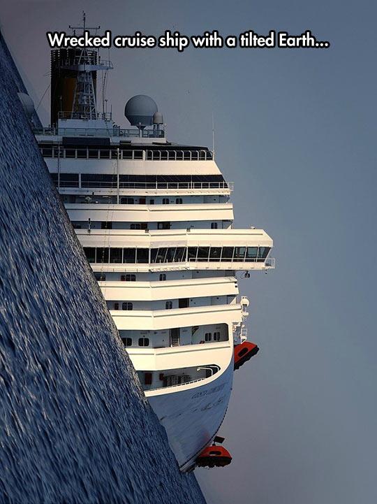 cool-cruise-ship-wreckage-tilted-ocean